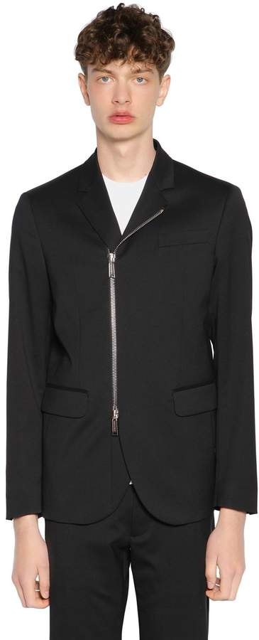 DSQUARED2 Tokyo Zipped Stretch Virgin Wool Jacket