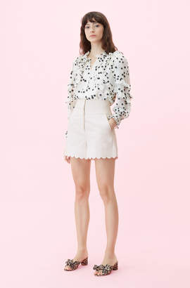Rebecca Taylor Scalloped Suiting Short
