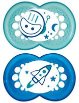 Mam Night Age 6+ Months Glow-in-the-Dark Pacifier (2-Pack)