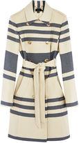 Karen Millen Striped Trench Coat