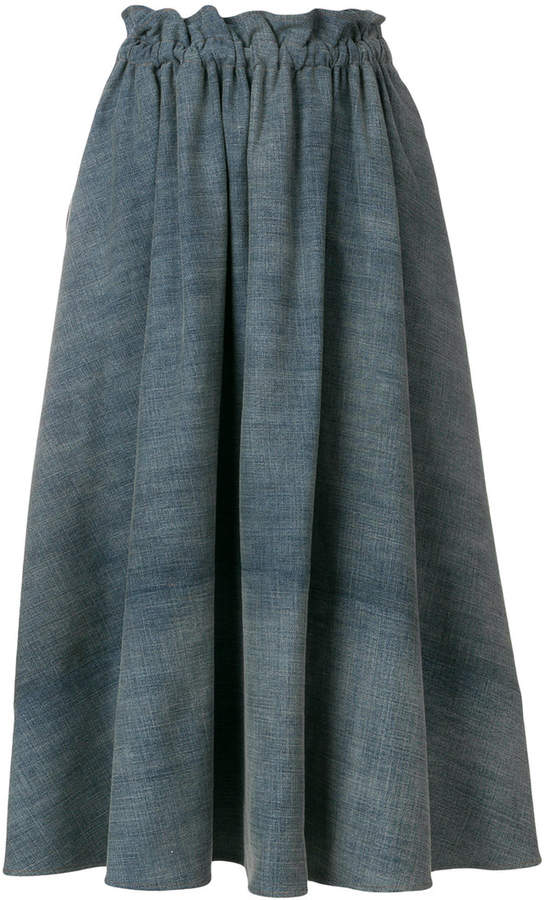 Loewe drawstring denim skirt