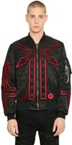 Marcelo Burlon County of Milan Manual Alpha Ma1 Nylon Bomber Jacket