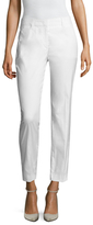 Prada Cotton Contrast Stitch Cropped Trouser