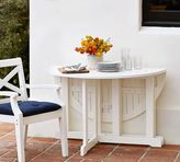 Pottery Barn Hampstead Painted Round Drop-Leaf Dining Table - White