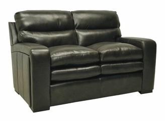 "Wildon Home Genuine Leather 58"" Round Arm Loveseat"