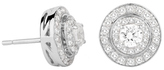 Jenny Packham 18ct White Gold 0.45 Carat Total Weight Brilliant Cut Double Halo Diamond Earrings