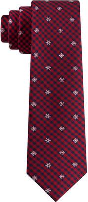 Tommy Hilfiger Big Boys Snowflake Mini-Plaid Tie