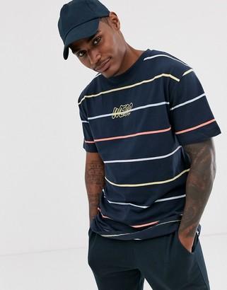 Wesc Mason yarn dye stripe t-shirt-Navy