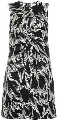 Victoria Victoria Beckham Foliage Print Shift Dress