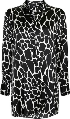 Wallis Black Animal Print Shirt