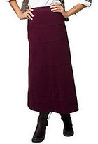 As Is Denim & Co. Faux Suede Tiered Long Skirt