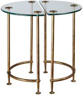 Uttermost Aralu Antique Gold Side Table (Set of 2)