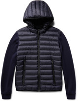 Prada Virgin Wool and Quilted Shell Down Hooded Jacket
