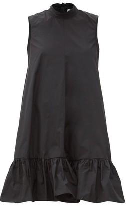 RED Valentino Back-bow Dropped-hem Taffeta Dress - Black