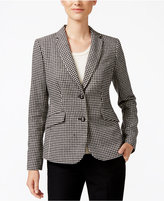 Charter Club Houndstooth Two-Button Blazer, Only at Macy's