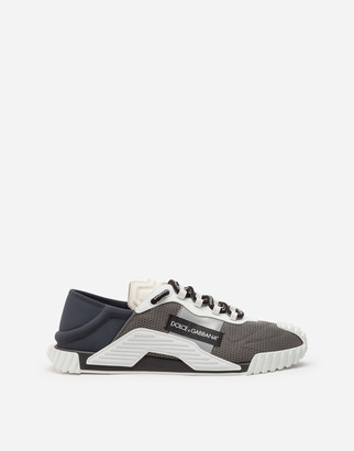 Dolce & Gabbana Ns1 Slip On Sneakers In Mixed Materials