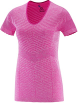Salomon Rose Violet Elevate Seamless Short-Sleeve Tee - Women