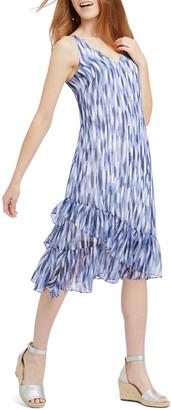 Nic+Zoe Falling Petals Sleeveless Ruffle Dress