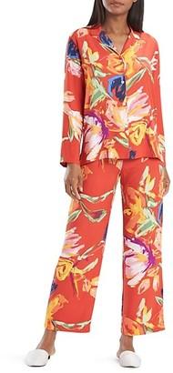 Natori Kira 2-Piece Floral Pajama Set