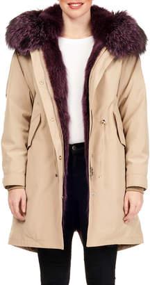 Gorski Shadow Fox-Fur Lined Parka w/ Detachable Hood