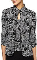 Alex Evenings 3/4-Sleeve Printed Twinset