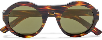 Acne Studios Round-frame Tortoiseshell Acetate Sunglasses