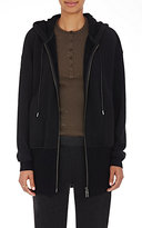 ATM Anthony Thomas Melillo Women's Cotton-Blend Zip-Front Hoodie-BLACK