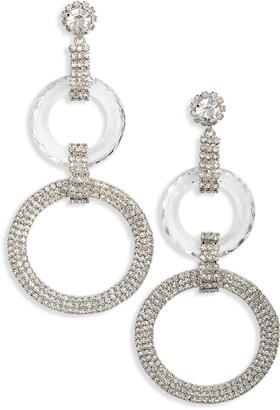 CRISTABELLE Crystal Ring Drop Earrings