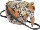 Loewe Elephant mini python-leather shoulder bag