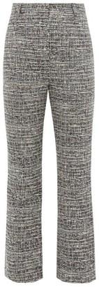 Goat Joey Kick-flare Tweed Trousers - Womens - Navy