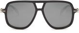 Alexander McQueen Flat-top mirrored sunglasses
