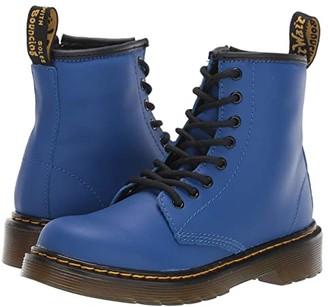 Dr. Martens Kid's Collection 1460 Delaney Boot (Little Kid/Big Kid) (Blue Romario) Kids Shoes