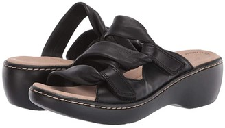 Clarks Delana Jazz (Black Leather) Women's Shoes
