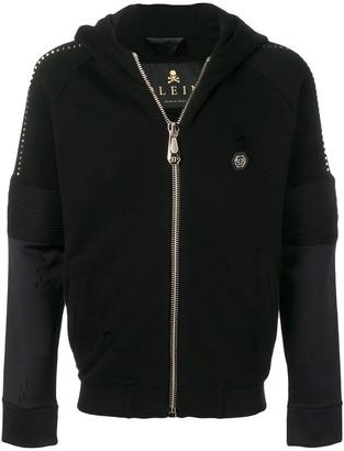 Philipp Plein Rockstud detail zipped hoodie