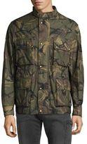 Belstaff Camouflage-Print Long Sleeve Jacket