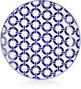Certified International Chelsea Collection Porcelain Blue Chainlink Dessert Plate