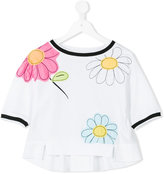 MonnaLisa embroidered flower T-shirt