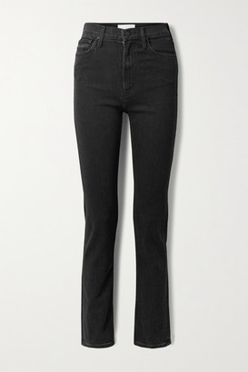 Mother Rider High-rise Straight-leg Jeans - Black