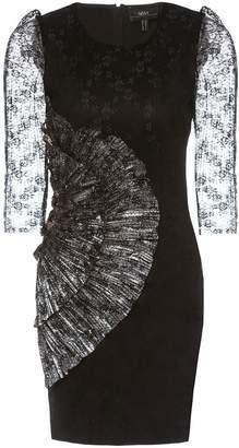 Nissa Mini Dress With Three Quarter Length Lace Sleeves