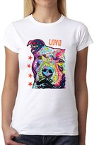 AvocadoWear Dean Russo Pitbull Dog Animals Women T-shirt XL