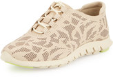 Cole Haan Zerogrand Perforated Leather Sneaker, Oyster Gray