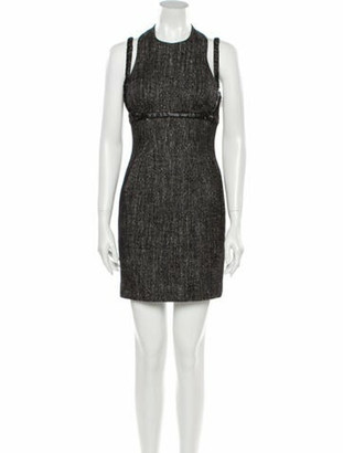 Versace Wool Mini Dress w/ Tags Wool