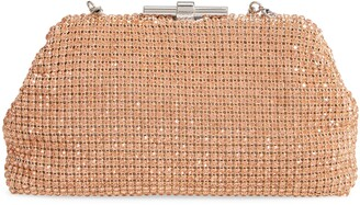 Reiss Adaline Crystal Embellished Frame Clutch