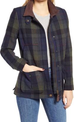 Joules Wool Blend Tweed Field Coat