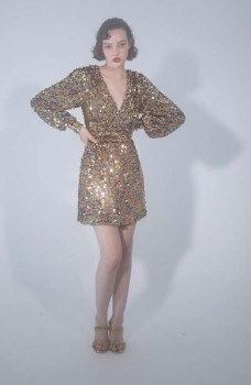 DELFI Collective The Tilly Dress In Silver Sequins - XS