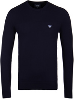 Armani Jeans Navy Knitted Crew Neck Sweater