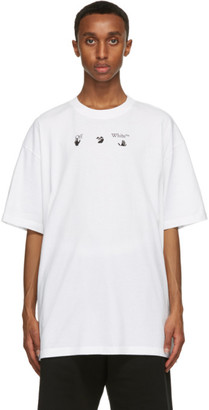 Off-White White Print World Peace T-Shirt