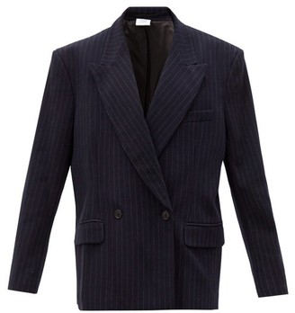 Vetements Double-breasted Pinstriped Twill Blazer - Navy