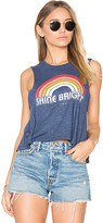 Spiritual Gangster Retro Rainbow Tank in Blue. - size L (also in )