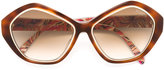 Emilio Pucci oversized sunglasses - women - Acetate/metal - One Size